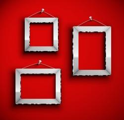 Three photo frames. Eps 10