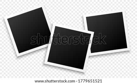 three photo frames on