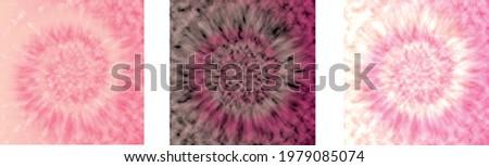 three pink shades of tie die