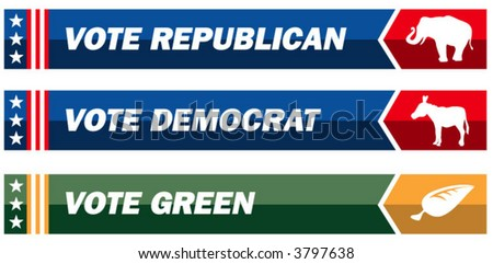 Three political web banners