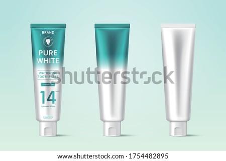 three pure white toothpaste