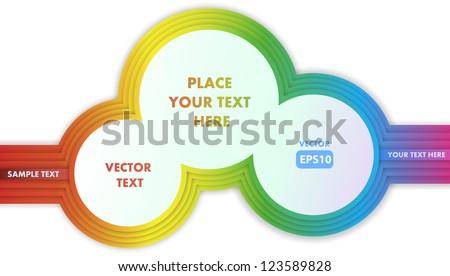 Three rainbow rings. Vector.