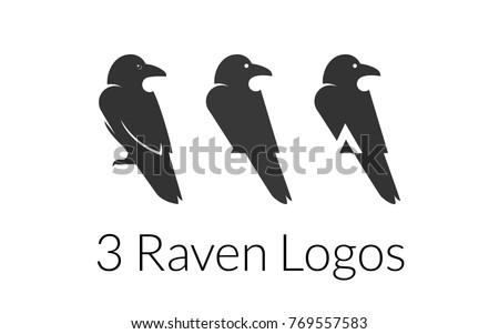 three raven logo templates