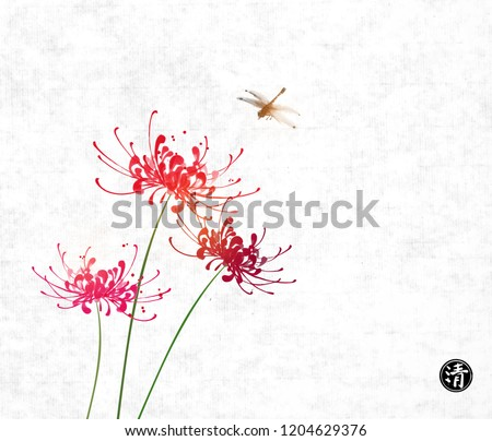 three red chrysanthemum flowers