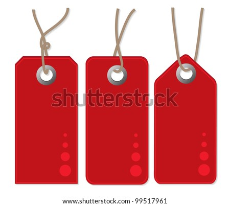three red tags, vector