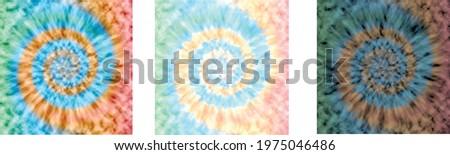 three shades of tie die pastel