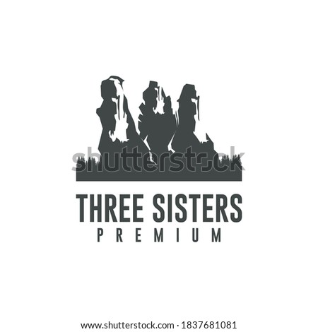 three sisters mountain vector