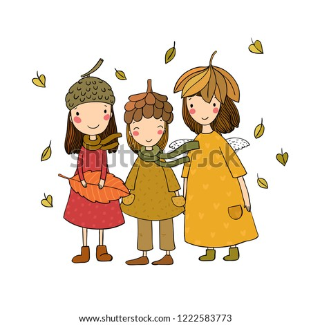 three small forest fairies