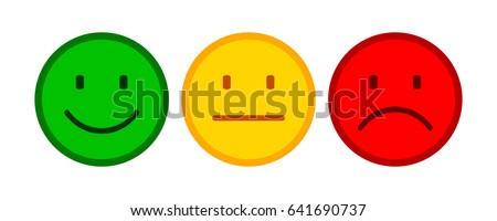 three smilies   stock vector