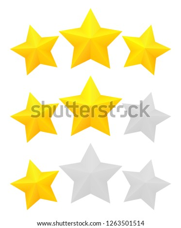 three star rating different