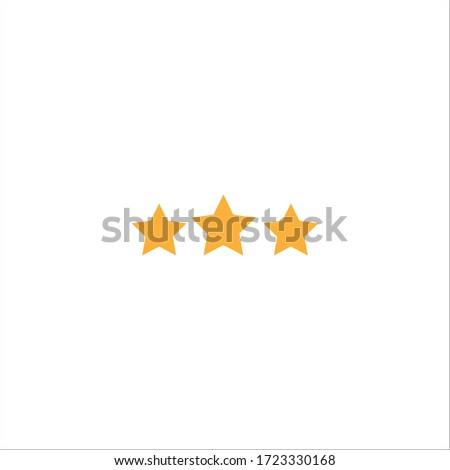 three stars quality icon vector