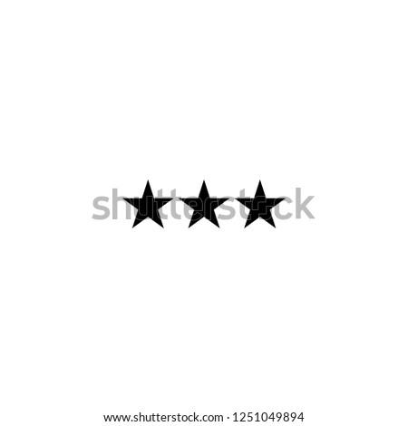 three stars vector icon three