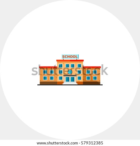 Three-storied School Building Icon