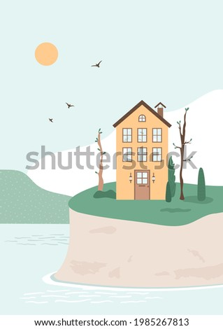 three story small house stands
