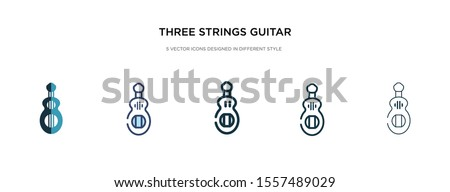 three strings guitar icon in