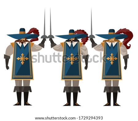 three sword warrior musketeers
