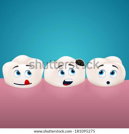 three teeth look at the hole in