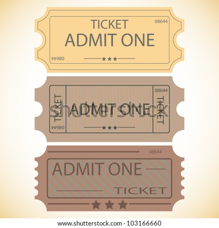 three ticketsvector