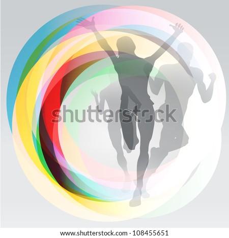 three translucent runners