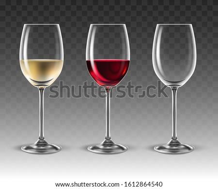 three transparent glasses for