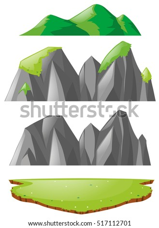 three types of mountains