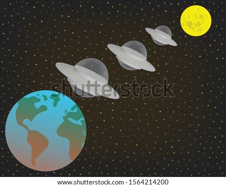 three ufo alien