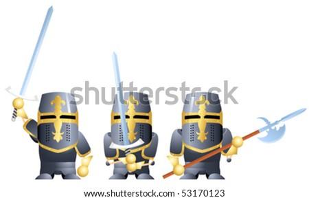 three variants of knight in