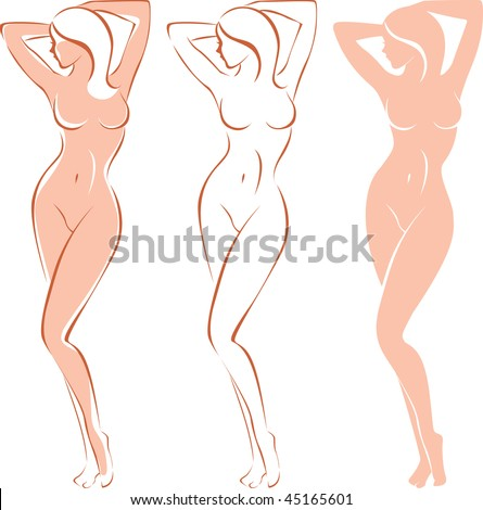 stock vector three variations of beautiful nude woman silhouette 45165601 Sex change gender reassignment