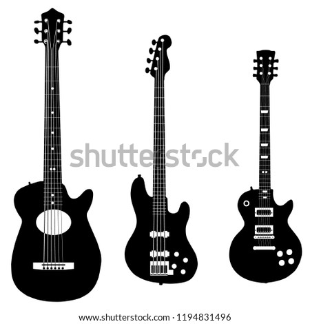 three vector black and white