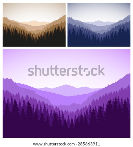 three vector landscapes