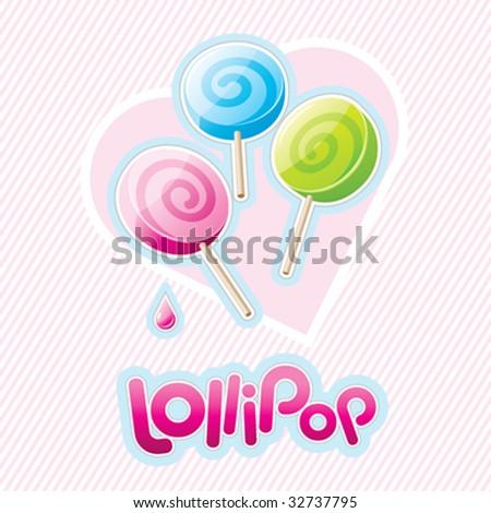 Three vector lollipops
