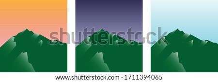 three vectors illustrations of