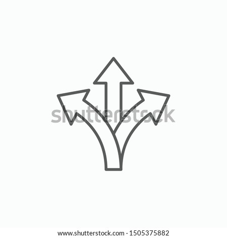 three way direction arrow vector illustration