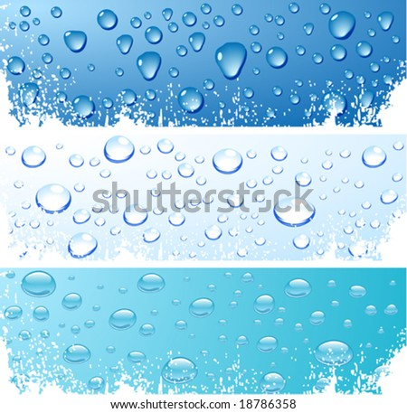three wet surfaces vector