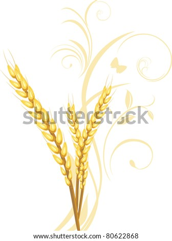 stock-vector-three-wheat-ears-with-flora