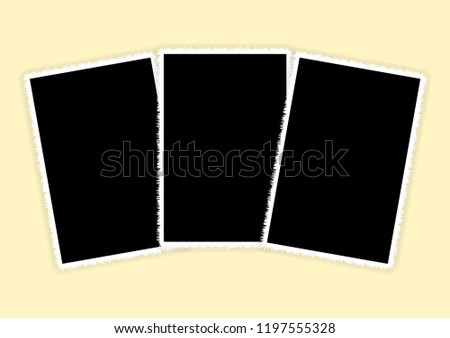 three white vertical photo
