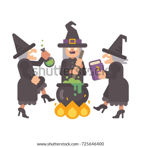 three wicked old witches
