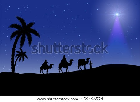 three wise men and christmas