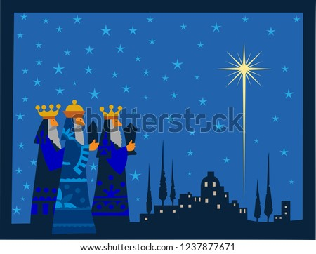 three wise men and shining star