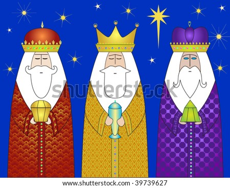 Three Wise Men Gifts - Christmas