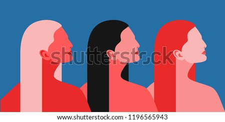 three women abstract female