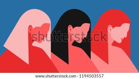 three women abstract female