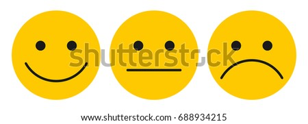 three yellow smilies   stock