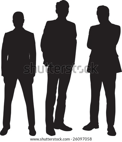 three young and sure businessman