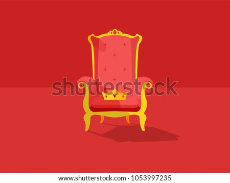 throne and a crown