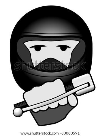 Simple image of Biker holding accelerator : Shutterstock