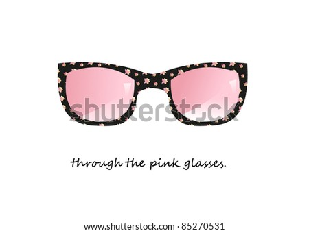 through the pink glasses vector