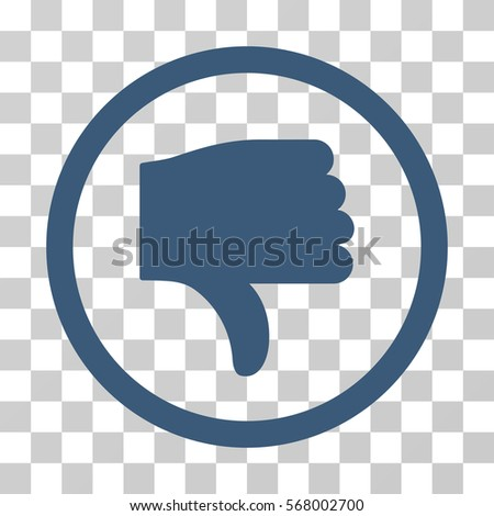 thumb down rounded icon vector