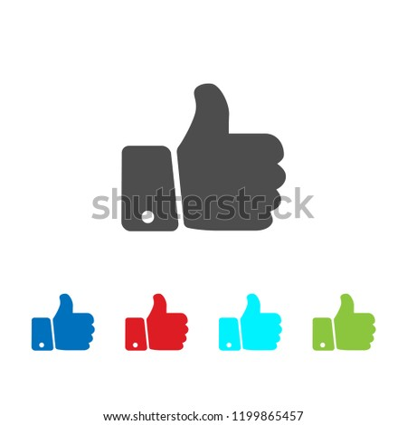 Thumb icon vector, good sign