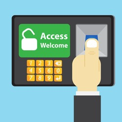 Thumb scan on access control